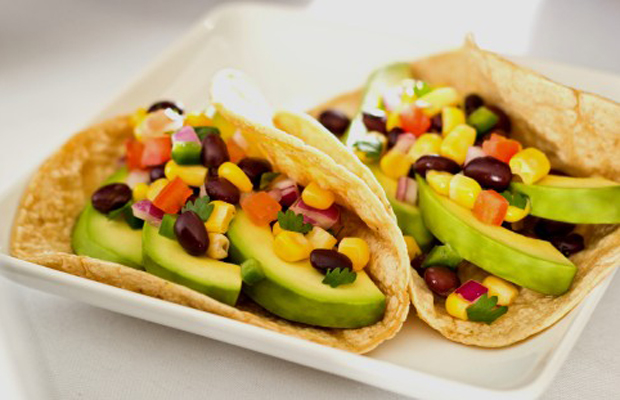 Avocado Tacos with Black Bean-Corn Salsa-h