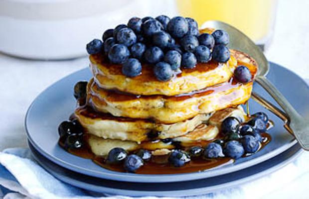 Blueberry-Ricotta flapjacks  pancakes -h