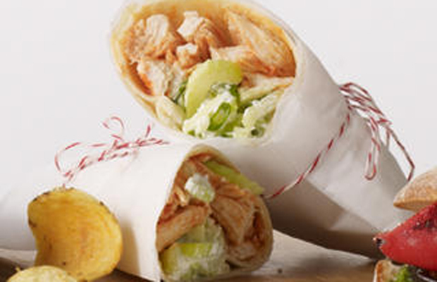 Buffalo Chicken and Blue Cheese Wraps-h