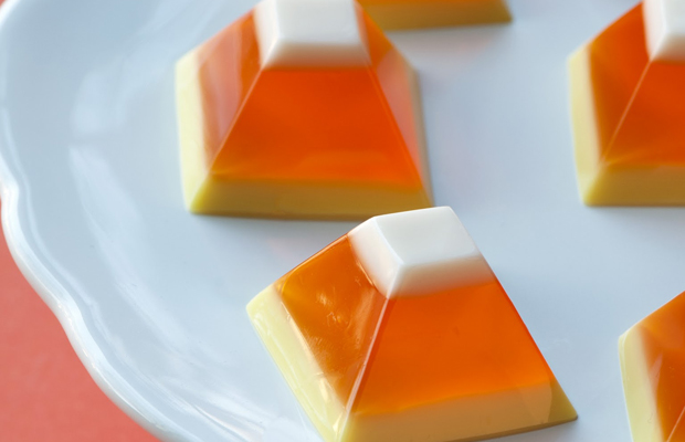 Candy Corn Jello-h