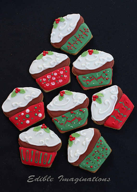 Christmas creative cupcakes decorations