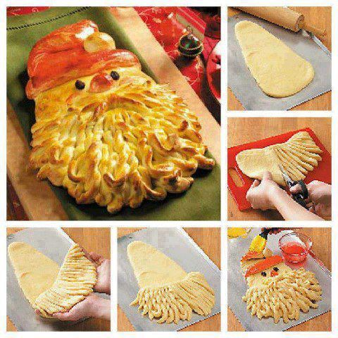 Christmas creative sweets and deserts ideas - Baked Santa face