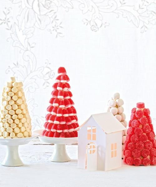 Christmas creative sweets and deserts ideas - Candy trees