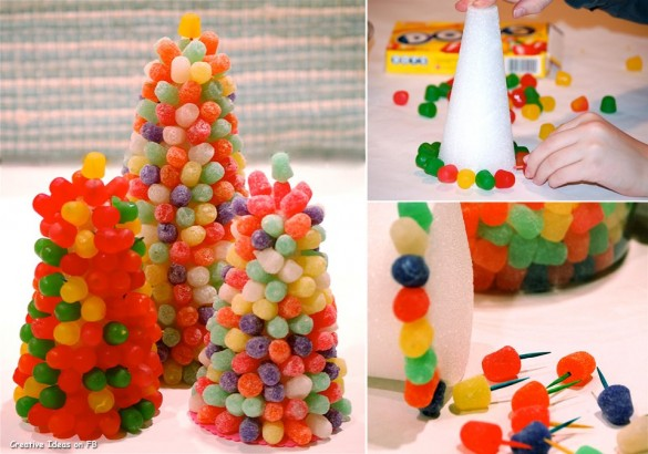 Christmas creative sweets and deserts ideas - Gumdrop tree