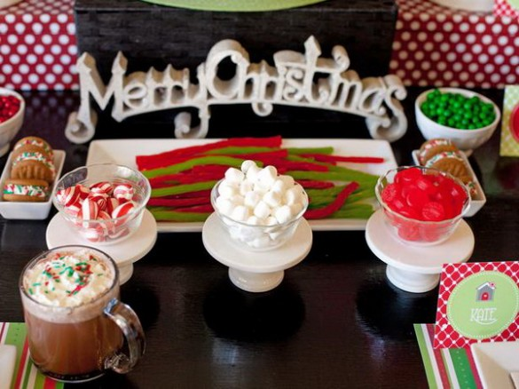Christmas creative sweets and deserts ideas - Table arrangement 1