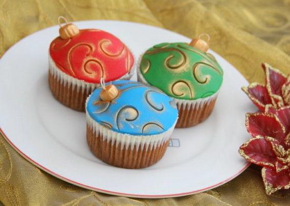 Christmas globes creative cupcake