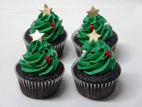 Christmas tree Christmas creative cupcakes
