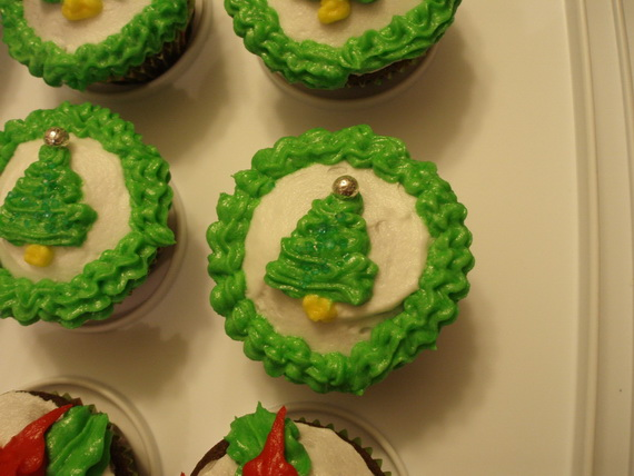 Christmas tree creative cupcake 2