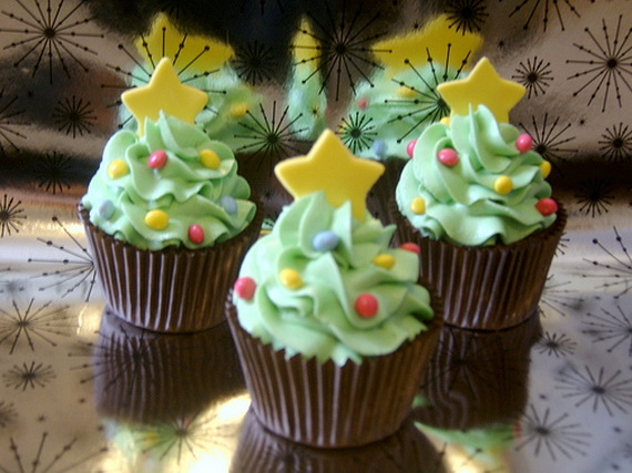 Christmas tree creative cupcake