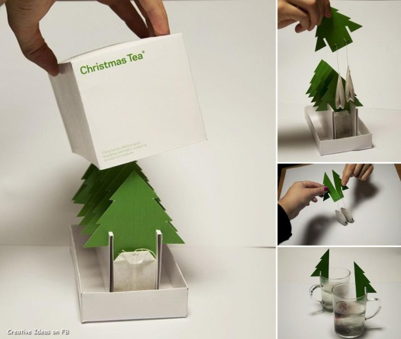 Christmas tree tea bag