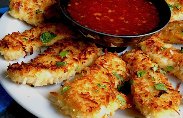 Coconut Chicken with Sweet Chili Dipping Sauce-Coconut Chicken-h