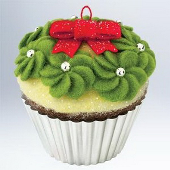 Green Christmas creative cupcake tree decoration