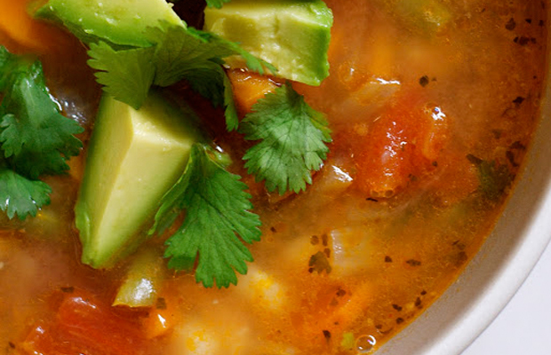 Mexican Vegetable Soup With Lime and Avocado from sacramento street main image
