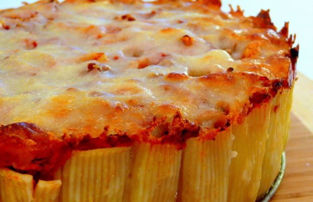 Pasta Pie, recipe from Martha Stewart-h