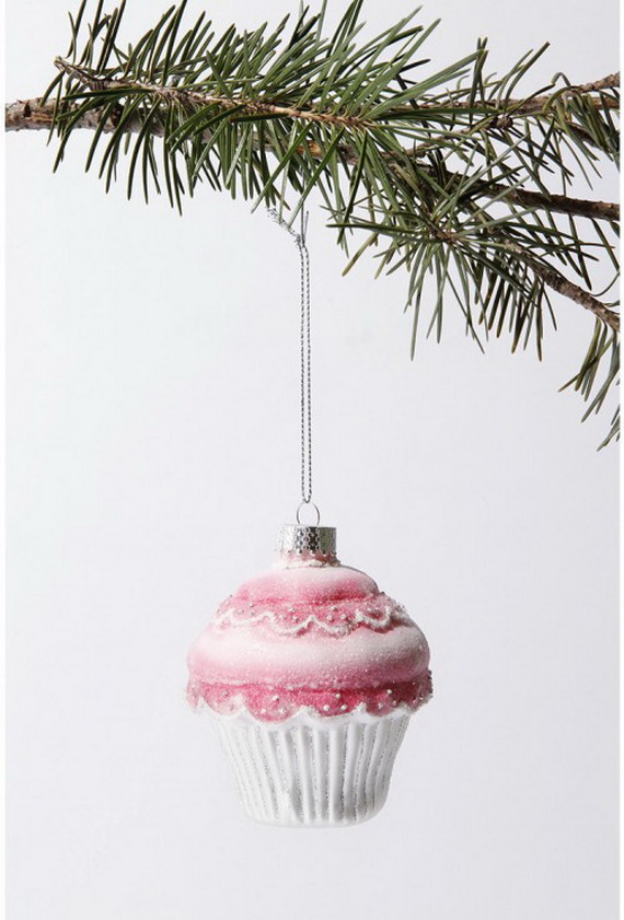 Pink Christmas creative cupcakes tree decoration