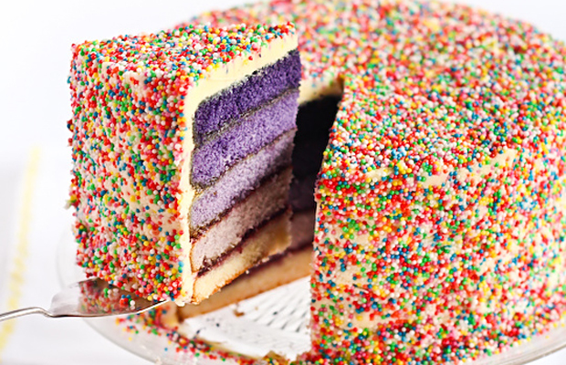 Purple Ombre Sprinkles Cake-h