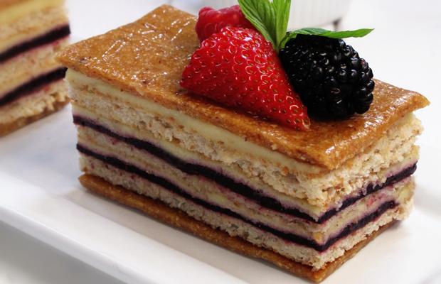 Raspberry Hazelnut Torte - raspberry-hazelnut-rose-chive-cake-h
