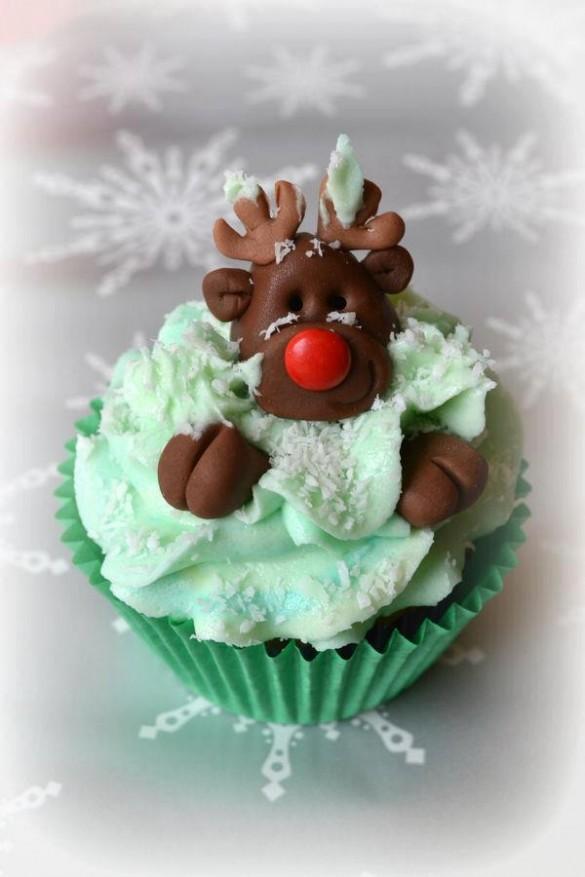 Reindeer Christmas creative cupcakes