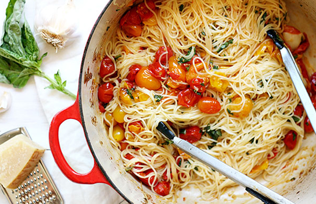 Roasted Cherry Tomato Cappellini-h