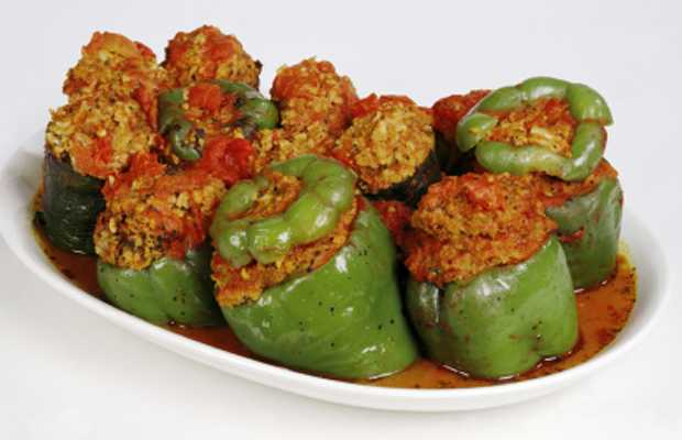 Stuffed Peppers with Ground Chicken (can also use ground beef or turkey)-h