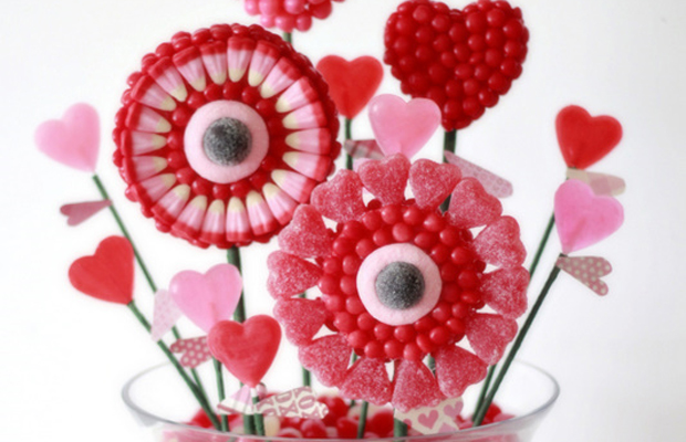 Valentine's candy bouquet-h