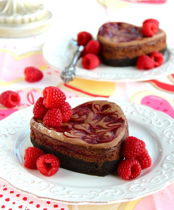 Raspberry Swirl Chocolate Truffle Cheesecake - chocolate_cheesecake-2.1