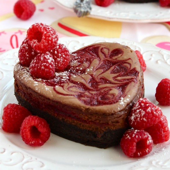 Raspberry Swirl Chocolate Truffle Cheesecake - chocolate_cheesecake1