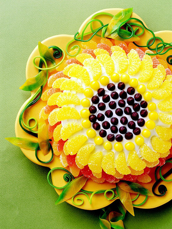 Sunflower cake, creative birthday cakes for kids