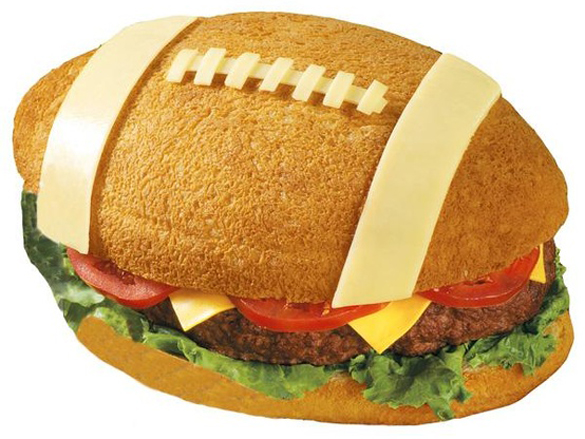Super Bowl yummy party food - Team-sized Burger