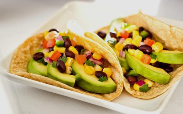 Black Bean Tacos With Corn Salsa Recipe — Dishmaps