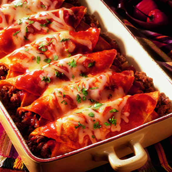 Mexican Speciality: Beef Enchiladas - fancy-edibles.com