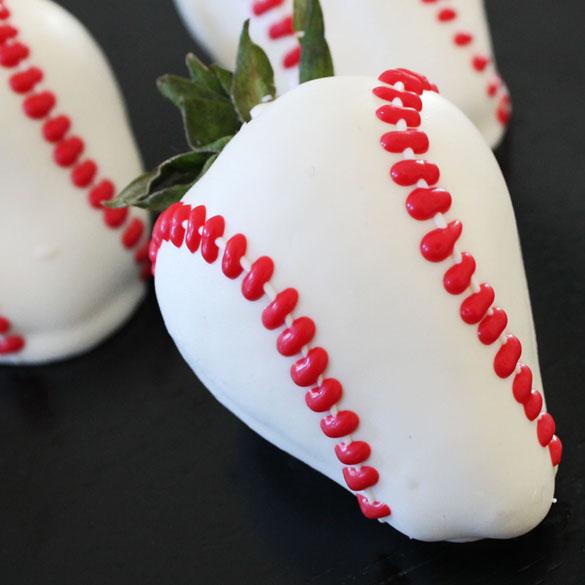 Home run chocolate covered strawberries
