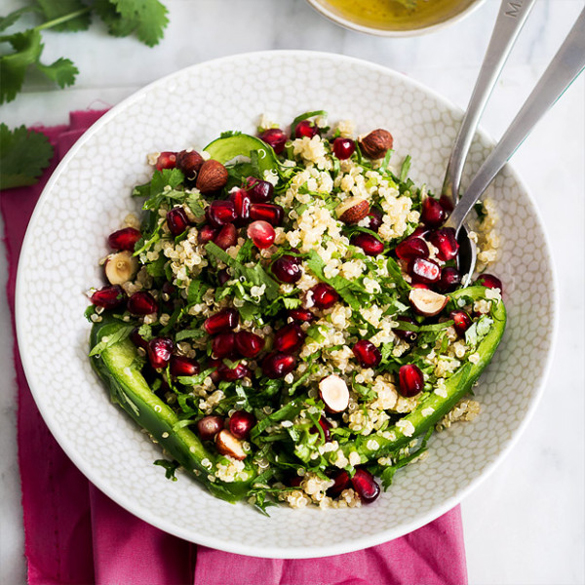 Autumn Crunch Quinoa Salad with Lime Dressing