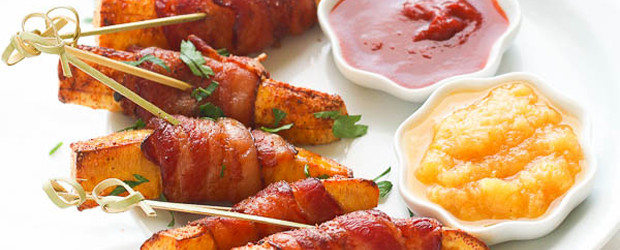 Bacon wrapped plantain