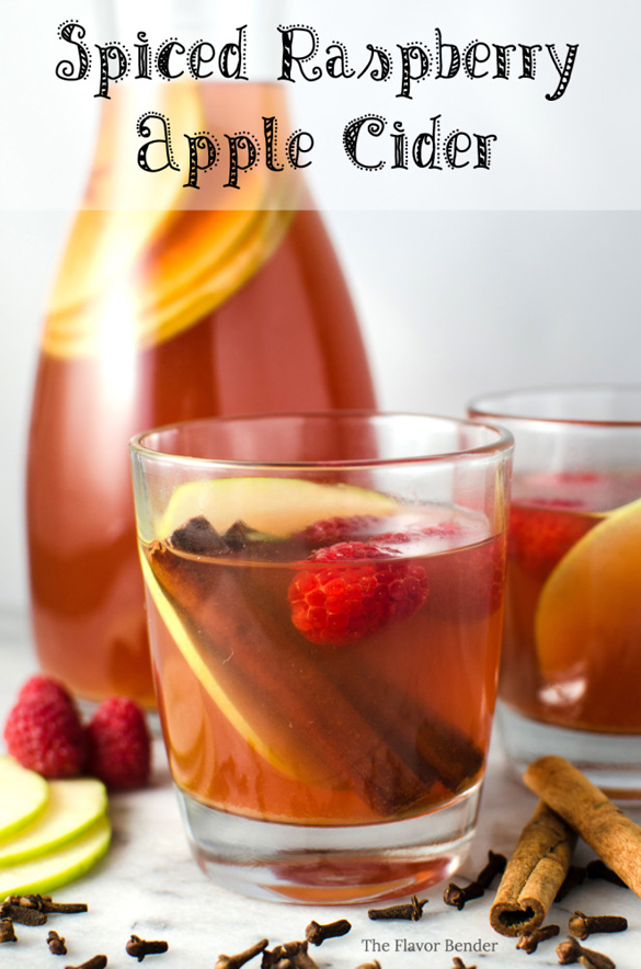 Spiced Raspberry Apple Cider - fancy-edibles.com