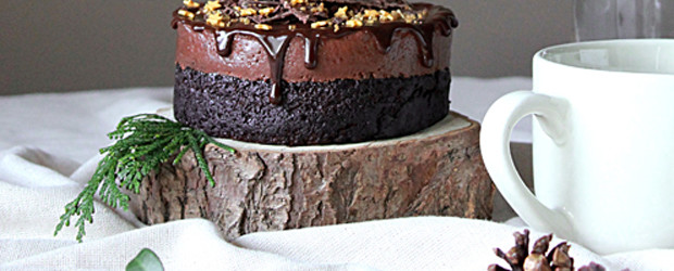Chocolate Ganache Mousse Cake