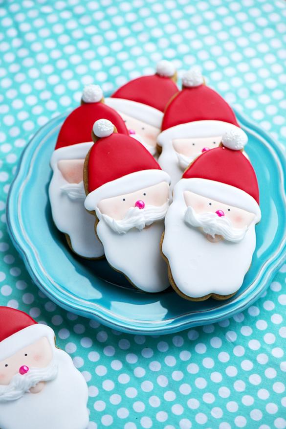 Gilded Reindeer and Santa Cookies