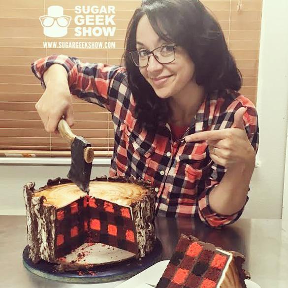 Lumberjack Cake With An Edible Axe by Elizabeth Marek