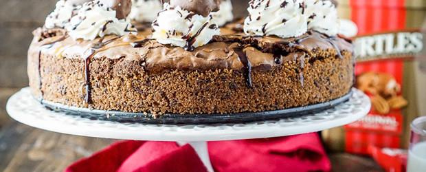 Gooey TURTLES Brownie Pie