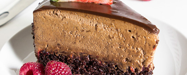 Chocolate Raspberry Mousse Cake4
