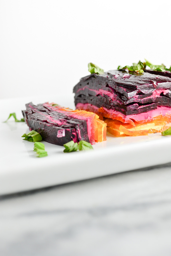 Rainbow Beet Terrine With Goat Cheese Fancy Edibles Com