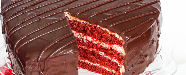 Super Tall Red Velvet Layer Cake