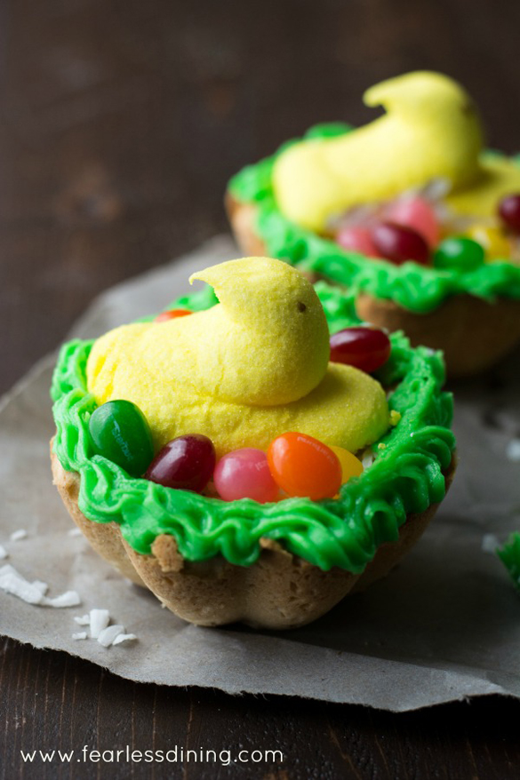 Gluten Free Lemon Cookie Nests