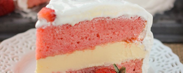 Strawberry Ice Cream Cake3