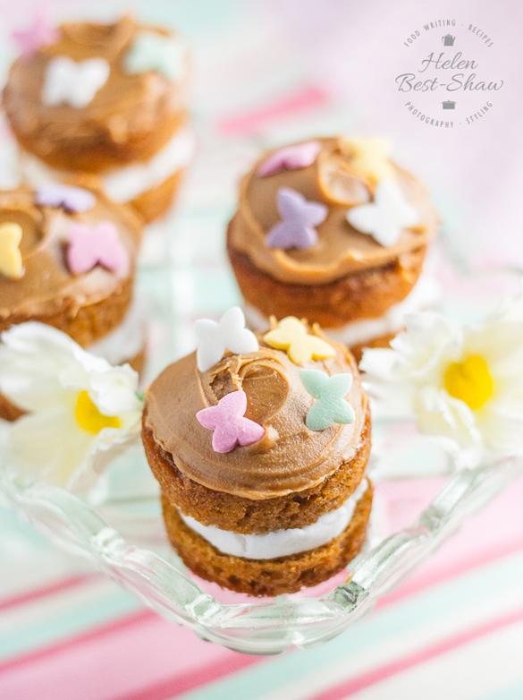 Toffee Caramel Mini Easter Cakes