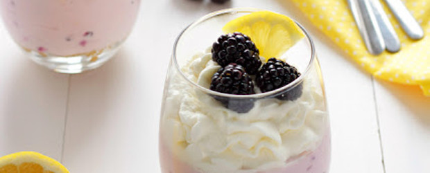 No-Bake Lemon Blackberry Cheesecake Cups