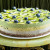 Raw vegan pear-passion-kiwi cake
