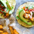 Crispy Yam Tacos with Chipotle Dip