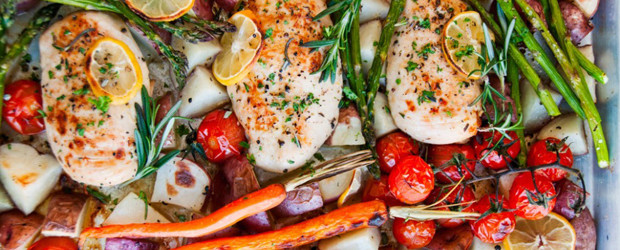 One Pan Lemon Herb Chicken1