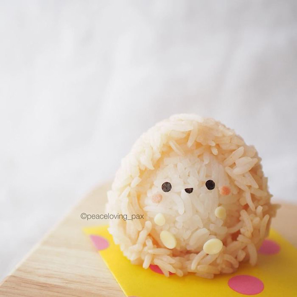 Adorable Rice Balls made by Peaceloving Pax